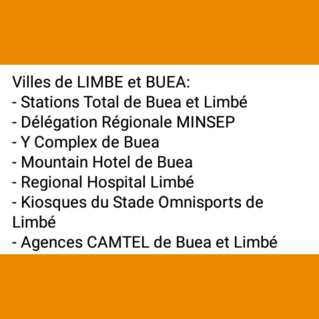 POINTS DE VENTE LIMBE/BUÉA